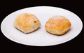 Two sandwich buns Royalty Free Stock Photo