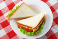 Two sandwiches Stock Photos