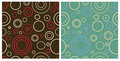 Two seamless retro patterns Royalty Free Stock Photography