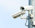 Two Security Cameras, CCTV Camera Royalty Free Stock Photo