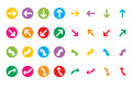 Two sets colorful web arrow icons Stock Image