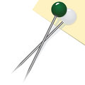 Two sewing pins Stock Photography