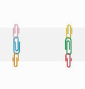 Two sheets of paper clips illustration and colored Royalty Free Stock Image