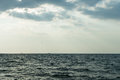 Two ships on the horizon Royalty Free Stock Photo
