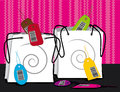 Two shopping bags sales concept illustration Royalty Free Stock Image