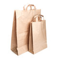 Two shopping paper bags on white Stock Images