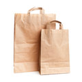 Two shopping paper bags on white background Royalty Free Stock Images