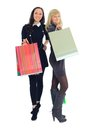 Two shopping women Royalty Free Stock Photos
