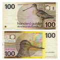 Two sides dutch gulden gilder money note printed dutch guilder dutch gulden ipa ld n sign ï   fl was currency netherlands th Stock Images
