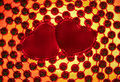 Two Silk red hearts Royalty Free Stock Image