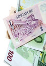 Two Singapore dollars Stock Images