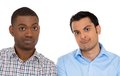 Two skeptical men Stock Photography