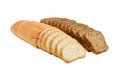 Two sliced loaf of bread with bran and brown bread Royalty Free Stock Photo