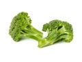 Two small fresh broccoli Royalty Free Stock Photo