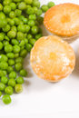 Two small meat pies Royalty Free Stock Photo