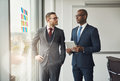 Two smart business managers in a discussion Royalty Free Stock Photo