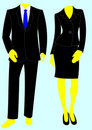 Two smart business suits, one male, one female. Royalty Free Stock Photo