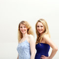 Two smiling blonde women Stock Photography
