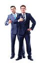 Two smiling businessman with thumb up Stock Photography