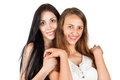 Two smiling girl Royalty Free Stock Photo