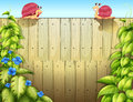 Two snails above the fence illustration of Royalty Free Stock Photo
