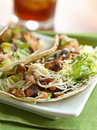 Two soft shell chicken tacos Royalty Free Stock Photos