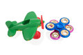 Two spinners and a toy plane Royalty Free Stock Photo