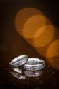 Two splendid wedding rings on a day Stock Image