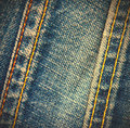 Two stitches on jeans close up Royalty Free Stock Photos