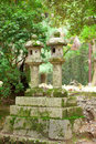 Two stone lanterns in Kasuga shrine, Nara Royalty Free Stock Photos