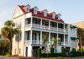 Two Story Antebellum in Charleston Stock Photo