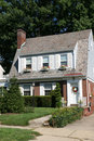 Two Story Colonial Home Royalty Free Stock Photo