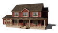Two Story House - Red Royalty Free Stock Photo