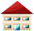A two story single detached house illustration of on white background Royalty Free Stock Photos