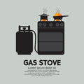 Two stoves with gas vector illustration Stock Image