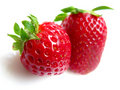 Two strawberries Stock Photography