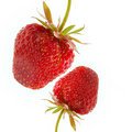 Two strawberry Stock Photo