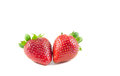 Two strawberry isolate Royalty Free Stock Photo
