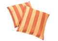 Two striped pillows Royalty Free Stock Images