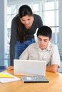 Two Students Studying Together Royalty Free Stock Image