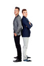 Two stylish businessman isolated on a white background Royalty Free Stock Photography