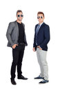 Two stylish businessman isolated on a white background Royalty Free Stock Image