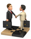 Two successful businessman on a puzzle d Royalty Free Stock Photos