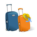 Two suitcases isolated illustration Stock Image