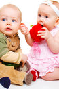 Two sweet babies Royalty Free Stock Photo