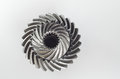Two swirl gears on isolated background Royalty Free Stock Photo