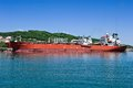 Two tanker near the oil terminal company rosneft nakhodka bay east japan sea Royalty Free Stock Images