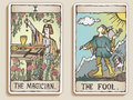 Two Tarot Cards Royalty Free Stock Images