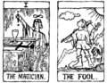 Two Tarot Cards outline Royalty Free Stock Photo
