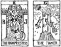 Two Tarot Cards outline v.2 Royalty Free Stock Photo